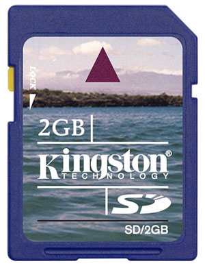 Флеш карта на 2GB Kingston SecureDigital SD