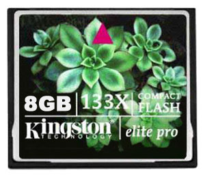 Флеш карта на 8GB Kingston CompactFlash CF