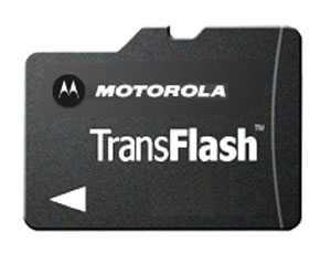 Флеш карта на 512MB Motorola TransFlash TF