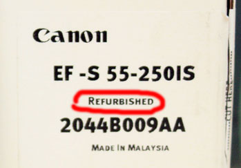 Canon refurbished
